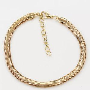 """Snake Fish Scales Gold Anklet Ankle Bracelet 9.5"""""""